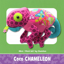 Coco Chameleon Soft Toy Sewing Pattern by Funky Friends Factory