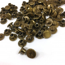 "Emmaline Bags Chicago Screws Small 10mm x 4mm (3/8"" x 3/16"") in Antique Brass - 50pk"