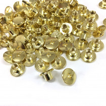 "Emmaline Bags Chicago Screws Small 10mm x 4mm (3/8"" x 3/16"") in Gold - 50pk"
