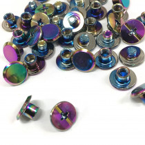 "Emmaline Bags Chicago Screws Small 10mm x 4mm (3/8"" x 3/16"") in Iridescent Rainbow - 20pk"