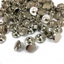 "Emmaline Bags Chicago Screws Small 10mm x 4mm (3/8"" x 3/16"") in Silver - 50pk"