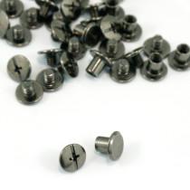 "Emmaline Bags Chicago Screws Medium 10mm x 6mm (3/8"" x 1/4"") in Gunmetal - 50pk"