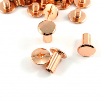 "Emmaline Bags Chicago Screws Large 10mm x 10mm (3/8"" x 3/8"") in Copper - 50pk"