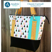 Classic Carryall Handbag & Tote Sewing Pattern by Andrie Designs (formally Two Pretty Poppets)