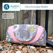 Cleo Everyday Wallet Sewing Pattern by Andrie Designs (formally Two Pretty Poppets)