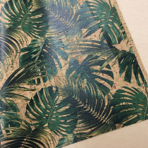 "Portuguese Natural Printed Cork Jungle Leaves - Sizing from 70cm x 50cm (27-1/2"" x 19-1/2"")"