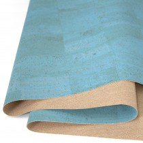 "Portuguese Surface Cork Ocean Blue - Sizing from 70cm x 50cm (27-1/2"" x 19-1/2"")"