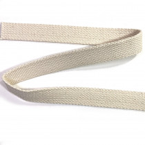 "100% Cotton Webbing 25mm (1"") Natural"