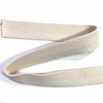 "100% Cotton Webbing 31mm (1-1/4"") Natural"