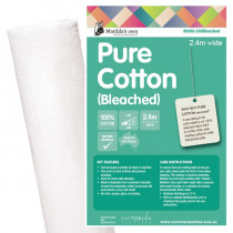 Matilda's Own 100% Pure Cotton Quilt Batting White 2.4m wide