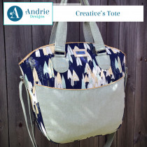 Creative's Tote Sewing Pattern by Andrie Designs (formally Two Pretty Poppets)