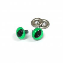 "Toy Eyes Cat - 12mm (1/2"") Luminous Green - 10pk (5 Pairs)"