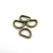 "D-Ring 12mm (1/2"") Antique Brass - 4pk"