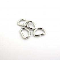 "D-Ring 12mm (1/2"") Silver - 4pk"