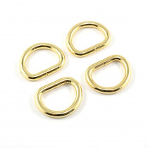 "Emmaline Bags D-Ring 20mm (3/4"") Gold - 4pk"