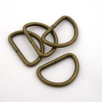 """Voodoo Bag Hardware D-Ring 33mm (1-1/4"""") Antique - 4 pk"""