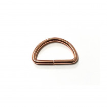"Voodoo Bag Hardware D-Ring 40mm (1-1/2"") Copper - 4 pk"