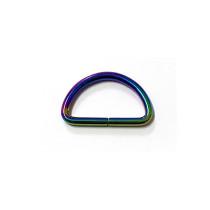 "Voodoo Bag Hardware D-Ring 40mm (1-1/2"") Iridescent Rainbow - 4 pk"