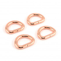 "Emmaline Bags D-Ring 12mm (1/2"") Copper (Rose Gold) - 4pk"