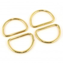 "Emmaline Bags D-Ring 40mm (1-1/2"") Gold - 4pk"