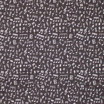 Type Bank Music Note Toss Brown by Windham Fabric