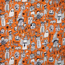 Creep It Real Orange by Dear Stella Fabric Design