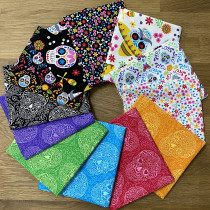 Day of the Dead FQ Bundle 12pc by Andover Fabrics