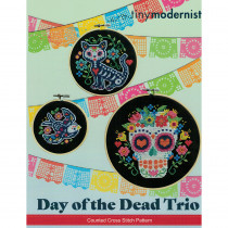 Day Of The Dead Trio Cross Stitch Chart by The Tiny Modernist