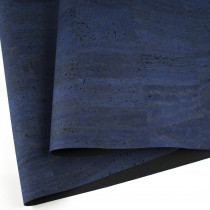 "Portuguese Surface Cork Denim Blue - Sizing from 70cm x 50cm (27-1/2"" x 19-1/2"")"