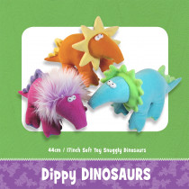 Dippy Dinosaurs Soft Toy Sewing Pattern by Funky Friends Factory