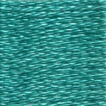 DMC Satin S959 Chlorophyll Green Embroidery Floss