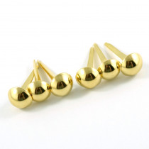 "Emmaline Bags Small Domed Purse Feet 12mm (1/2"") Gold - 6pk"