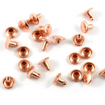 Emmaline Bags Metal Double-Capped Rivets Copper (Rose Gold) Small Size 8mm x 6mm - 50 sets