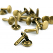 Emmaline Bags Metal Double-Capped Rivets Antique Brass 9mm x 10mm - 50pk