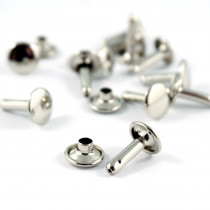 Emmaline Bags Metal Double-Capped Rivets Silver 9mm x 12mm - 50pk