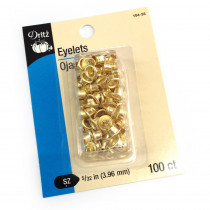 "D104 Dritz Eyelets 5/32"" (4mm) Brass 100ct"