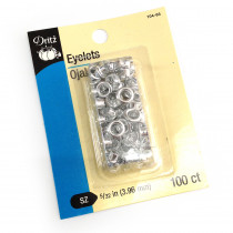 "D104 Dritz Eyelets 5/32"" (4mm) Silver Nickel 100ct"