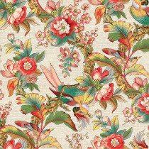 Chinoiserie Cream Cotton/Linen by Devonstone