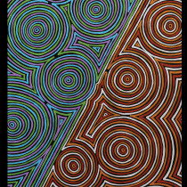 "Ngurambang Collection Marbaamarbaa Ngulburnan (Colourful Waterholes) 25"" Panel by Devonstone Collection"