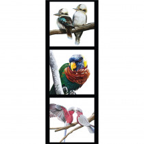 Chris Riley Collection 40.5cm Tri-Panel Kookaburra, Lorikeet and Galahs by Devonstone Collection