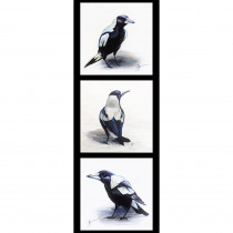 Chris Riley Collection 2 Magpie 40cm Tri Fabric Panel by Devonstone Collection