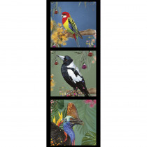 Karen Roberts Collection 3 Cassowary 40cm Tri Fabric Panel by Devonstone Collection