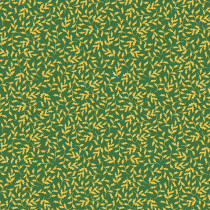 Little Aussie Christmas Holly Leaves Green and Gold by Devonstone Collection