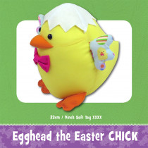 Egghead the Easter Chick Soft Toy Sewing Pattern by Funky Friends Factory