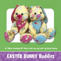 Easter Bunny Buddies Soft Toy Sewing Pattern by Funky Friends Factory