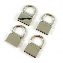 Emmaline Bags Strap Anchor Edge Connector Silver (4 pack)