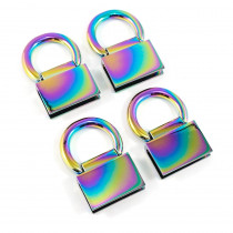 Emmaline Bags Strap Anchor Edge Connector Iridescent Rainbow (4 pack)