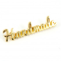 Emmaline Bags Metal Bag Label: Script Style Handmade Gold