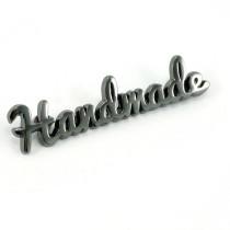 Emmaline Bags Metal Bag Label: Script Style Handmade Gunmetal
