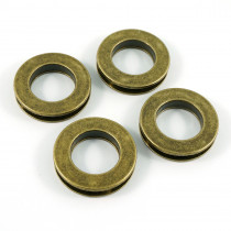 """Emmaline Bags Screw Together Grommets 20mm (3/4"""") Round in Antique Brass - 4pk"""